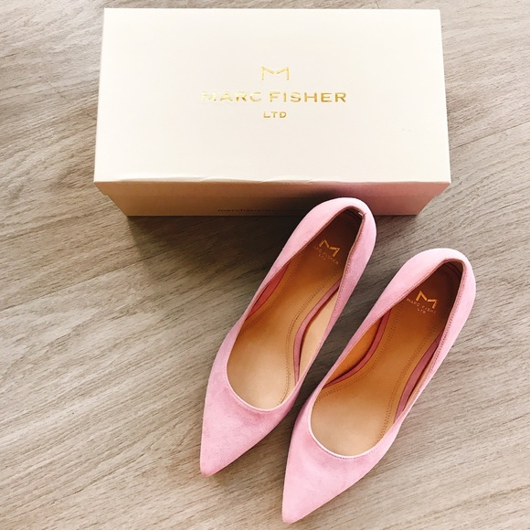 2d47da79c Marc Fisher Shoes   Womens Zala Suede Block Heel Pumps Light Pink ...
